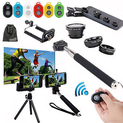 EEEKit 6in1 for Phone Monopod/Tripod Mount Holder+Bluetooth Remote Control+Lens
