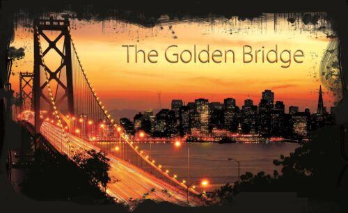 VLIES Fototapete Fototapeten Tapete  GOLDEN Brücke Kalifornien USA 14N422VEXL