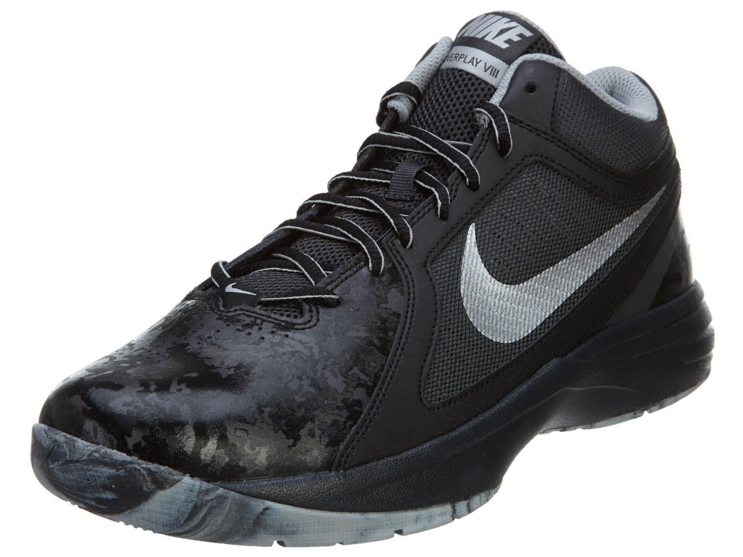 NIKE THE OVERPLAY VIII HI SNEAKERS MEN SHOES BLACK/WHITE 637382-015 SIZE 7 NEW