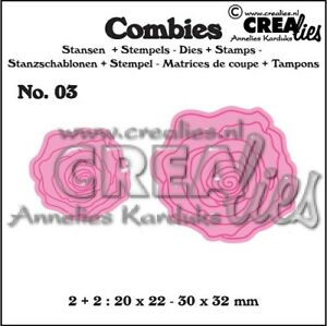Crealies-Combies-CLCB03-Roses-small-Stanzschablone-amp-clear-stamp-SET