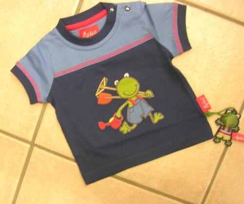 nuevo! T-shirt de Sigikid con poco brazo azul con rana.