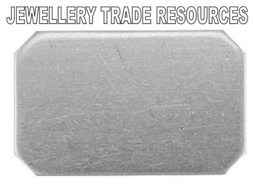 17mm x 11 x épaisseur 1mm Rectangle Argent Sterling plat fabrication de bijoux CUFF LINKS