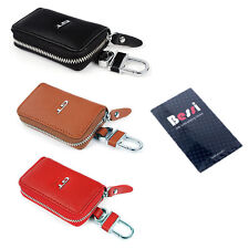 Universal Genuine Leather Key case Holder zipped key chain pouch car key case