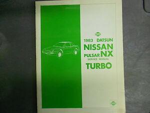 1983 Datsun Nissan Pulsar NX TURBO Service Repair Shop ...