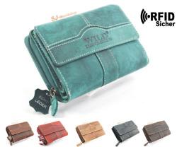 Damen Echt Leder Portemonnaie Portmonee Geldbörse Geldbeutel Etuis Wallet RFID