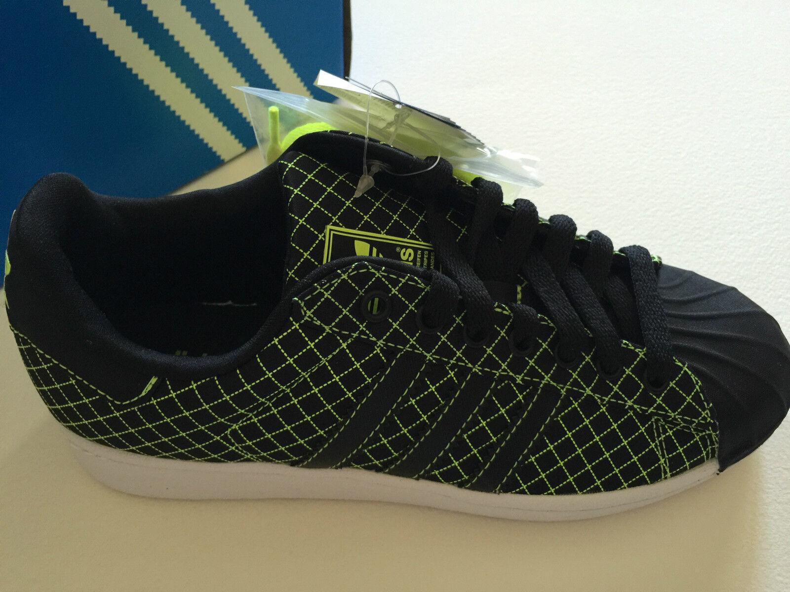Nuevo Zapatillas Adidas Superstar LTO Cuadrícula Verde Negro 5/Reino Tamaño EE. UU. hombres 5/Reino Negro Unido Hombre 4.5 42c540