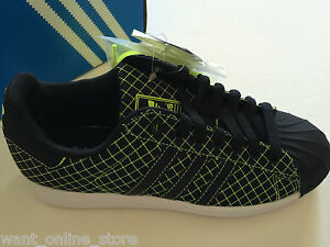 Details about NEW Adidas Superstar LTO Sneakers Black Green Grid Size US Men 5 UK Men 4.5