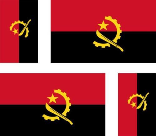 4 x Autocollant sticker voiture moto valise pc flag drapeau angola angolais