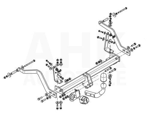 Für Renault Scenic I JA Anhängerkupplung starr+ES 7p ABE