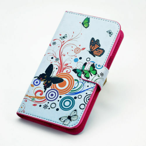 New Classic Flower Flip Leather PU Wallet Stand Case Cover For Smart Cell Phone