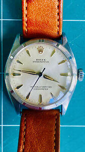 VINTAGE-1952-ROLEX-OYSTER-PERPETUAL-CHRONOMETER-REF-6085-SEMI-BUBBLE-BACK-WATCH