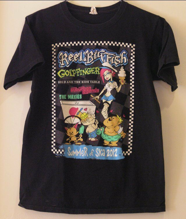 Reel Big Fish Goldfinger Big D and the Kids Table Vintage 2012 Tour T-Shirt SM