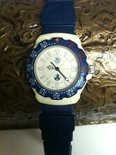 Vintage  Tag Heuer  F1 Formula One 35mm Mens Blue &. Beige Watch