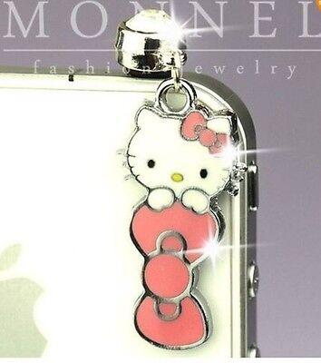 Hello Kitty Pink Bow Phone Charm Plug Anti-Dust