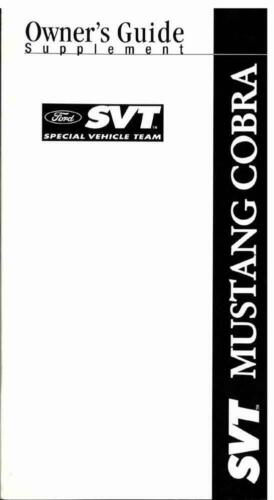 OEM Maintenance Owner/'s Manual Ford Mustang w// Svt Cobra Supp 2003-2004