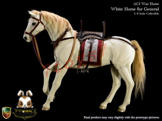 ACI Toys 1 6 H04 War Horse for General  White_ Box Set _Medieval Knight AT091Z