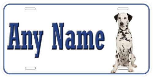 Dalmatian Dog Any Name Personalized Car Auto Tag License Plate