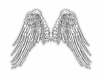 1x Wings Sticker Angels Helmet Hard Hat Hells Tablet Laptop Locker #13