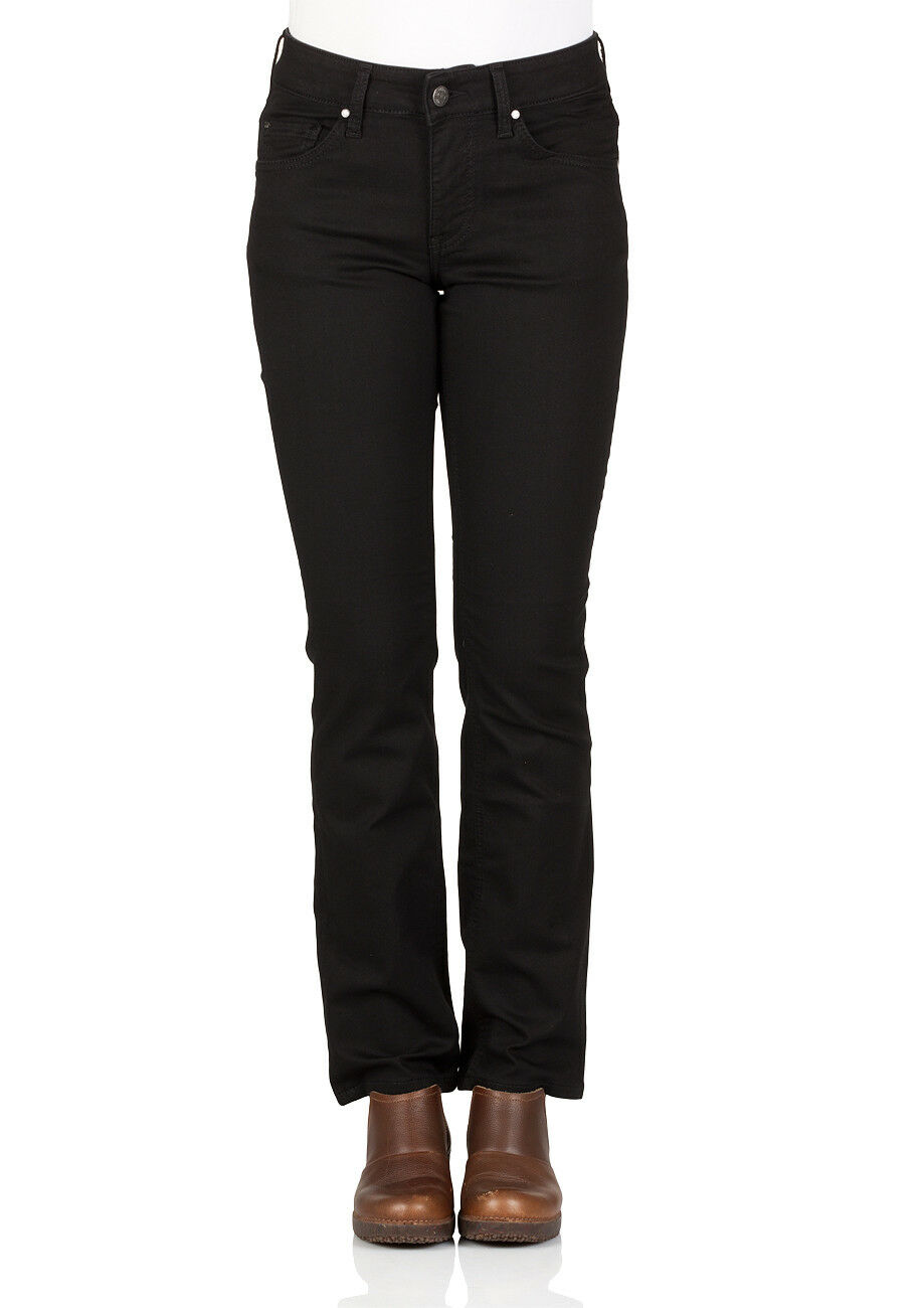 Mustang Damen Jeans Rebecca - Comfort Fit - Schwarz - Midnight schwarz