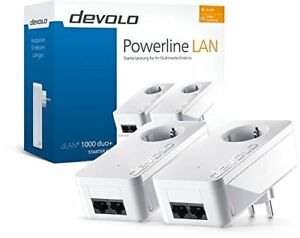 DEVOLO-dLAN-1000-duo-Starter-Kit-Powerline-Adapter-Steckdose-1000-Mbit-s