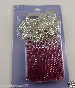for-Iphone-5-phone-case-bling-faux-butterfly-shape-bow-3d-crystal-pink-clear
