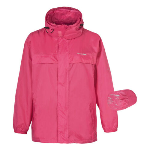 Trespass Waterproof Breathable Packaway Jacket with Bag Sorbet Small XXL