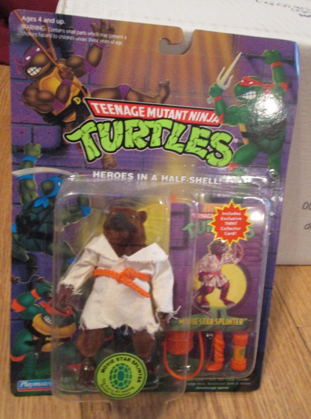 MOVIE STAR SPLINTER FIGURE Teenage Mutant Ninja Turtles W Collectors CARD TMNT
