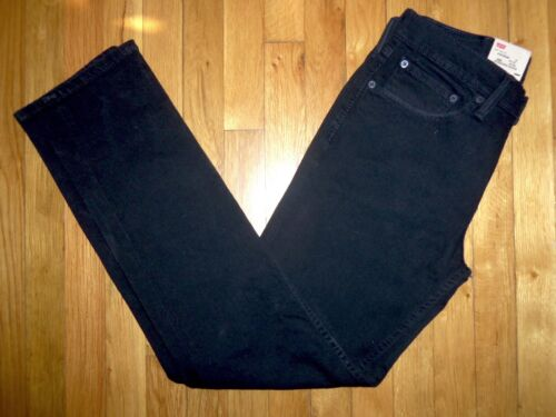 Levi's 511 Stretch Cut 32 Black Jeans Denim Low 31 Slim 6qCPw7P