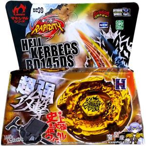 Hades Kerbecs / Hell Kerbecs BB-99 BD145DS Bayblade 4d STARTER SET WITH LAUNCHER