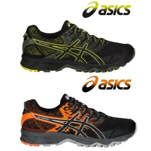 Asics Gel Sonoma 3 Running Shoes Men's T724N Black Sulphur Spring Orange Trail