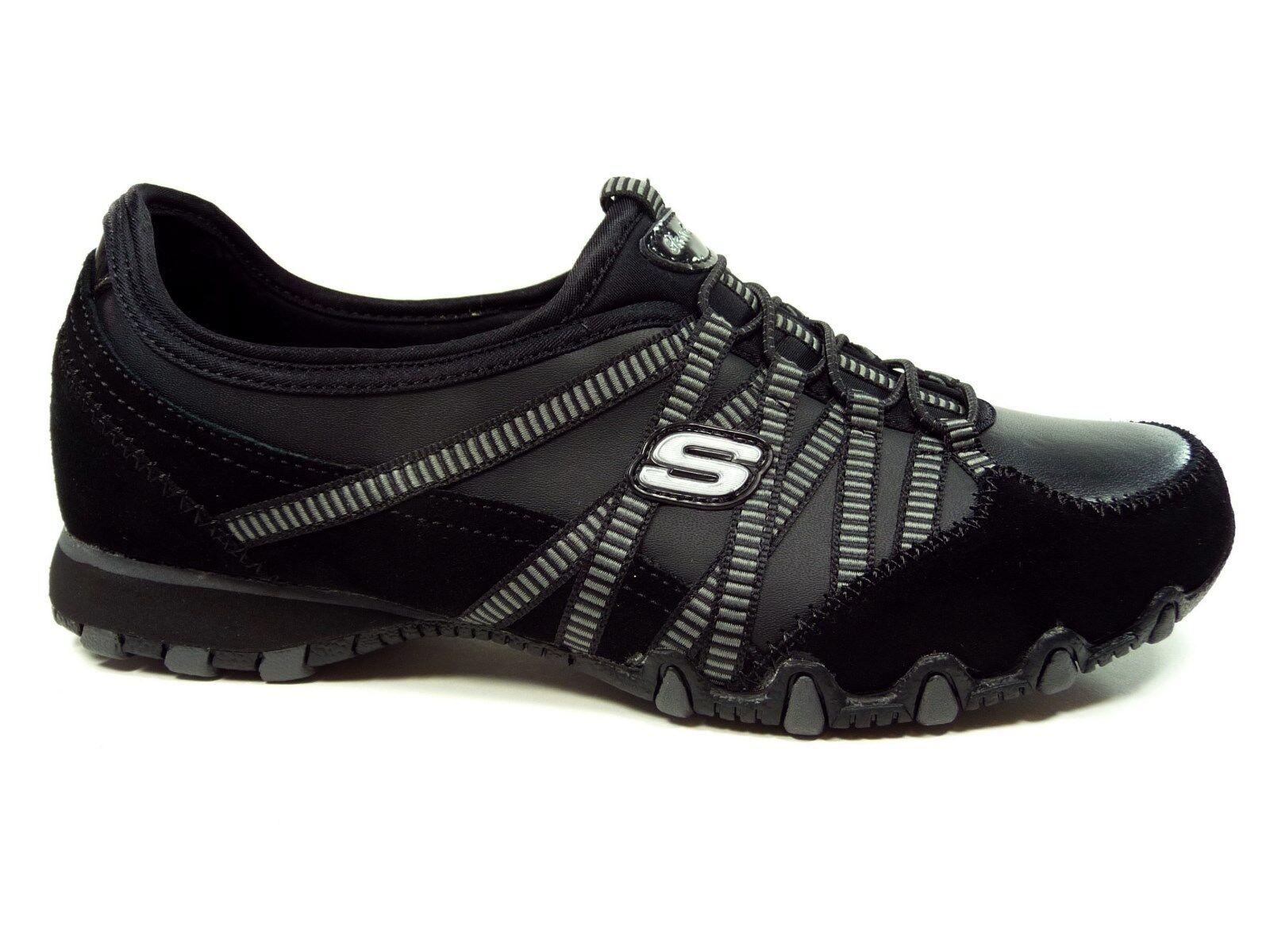 Skechers Damenhalbschuhe Sneakers Slipper in Schwarz 21140/BKCC