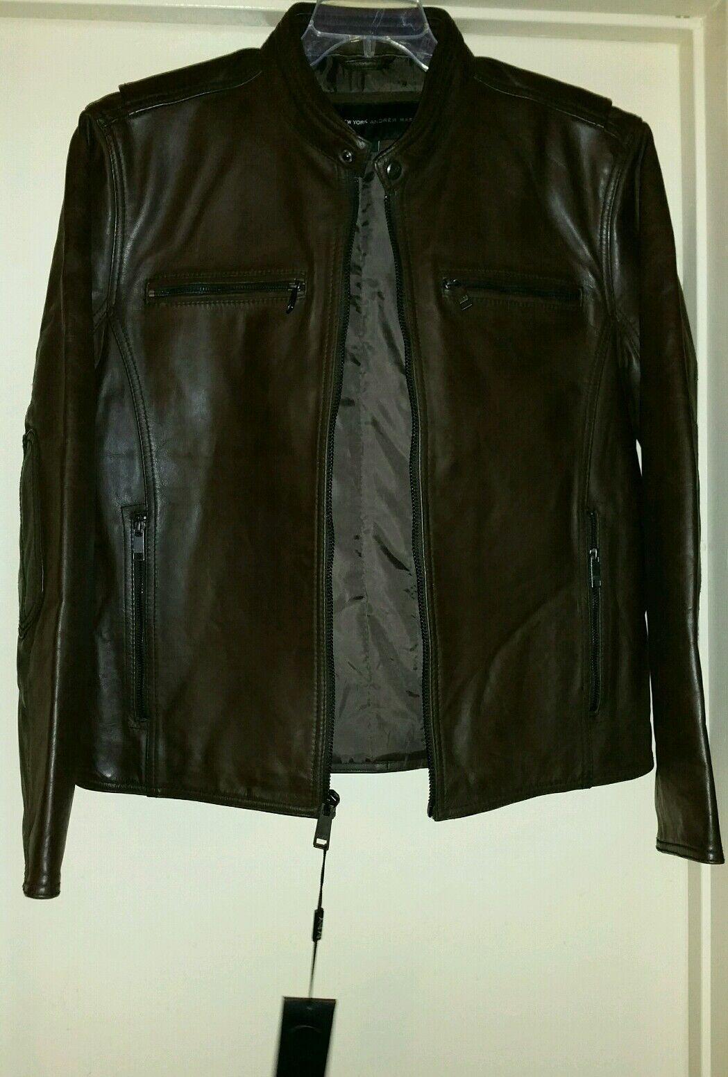 Andrew Marc Men's XLarge Leather Coat