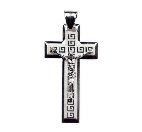 925 Sterling Silver Jesus Crucifix Cross Charm Pendant 05