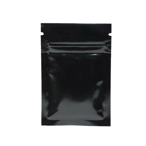100pcs Glossy Aluminum Foil Resealable Zip Lock Bags Mylar Food Grade Pouches TY