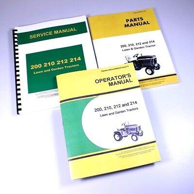 SERVICE MANUAL FOR JOHN DEERE 200 210 212 214 TRACTOR PARTS OPERATORS REPAIR EBay