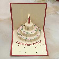 3D Pop Up Greeting Card Handmade Happy Birthday Party Invitation Valentines Day