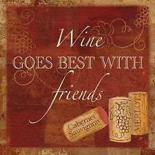 New! Wine Cork Sentiment I by Cynthia Coulter Fine Art Print Home Decor 814398
