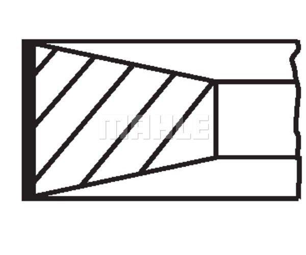 MAHLE ORIGINAL Piston Ring Kit 009 90 N1