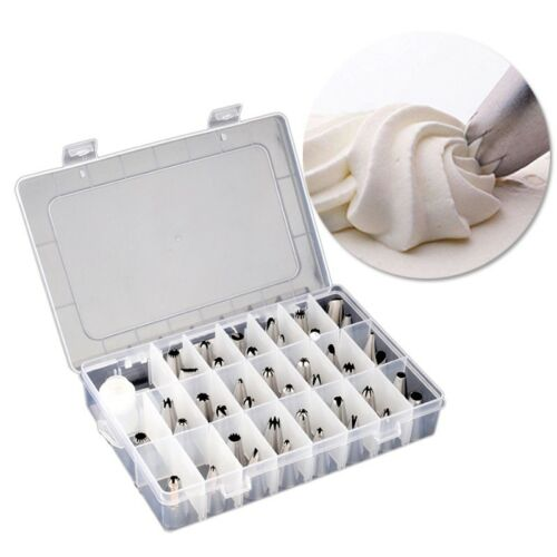 41PC Icing Nozzles Set Pastry Piping Tips Nozzle Adapter Box Cake Decorating Kit