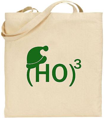 (HO)3 groß Baumwolle Einkaufstasche Weihnachten Bag Cool Wichteln Weihnachten