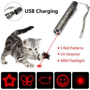 Pet-Cat-Kitten-Toy-Laser-Pointer-USB-Charging-LED-Light-Pen-Torch-Multi-pattern