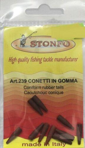CONETTI IN GOMMA 239 STONFO SURF CASTING COPRI NODO CONO COPRINODO PESCA