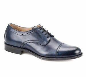 EXTON MEN'S Shoes/Blue Oxford Style /Made in Italy/Size: 43/