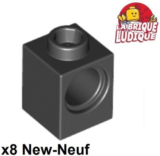 Lego Lot of 100 New Black Technic Bricks 1 x 1 with Hole Parts