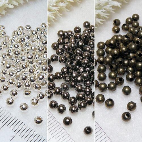 spacer entre perle balle 3mm métal perles Choix de Couleur * environ 200 lots