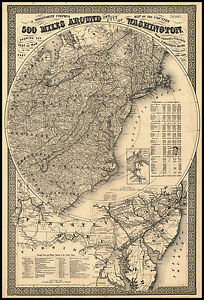 Details about 1861 MAP, Washington DC, Antique United States, America, on civil war confederate states map, washington dc during world war 2 map, washington during the 1800s,