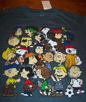 Peanuts Snoopy Play Ball T-shirt Xl W/ Tag Charlie Brown Lucy Linus