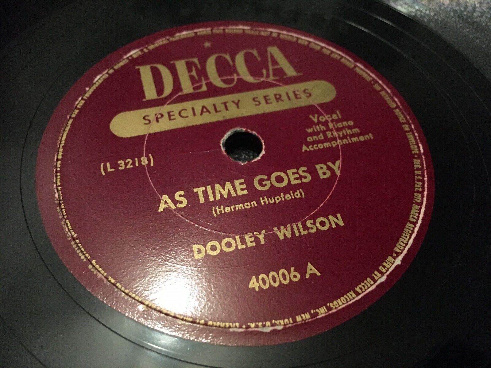 20 Nachschub DOOLEY WILSON  AS TIME GOES BY CASABLANCA / KNOCK ...