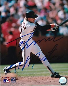 JOHNNIE LEMASTER  SAN FRANCISCO GIANTS   ACTION SIGNED 8x10
