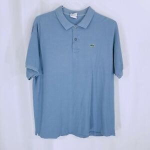 Lacoste-Mens-Short-Sleeve-Button-Down-Golf-Polo-Shirt-Light-Blue-Size-7